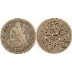 Seated Dime Love Tokens