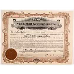 Vanderbilt Newspapers Stock