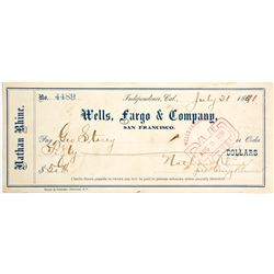 Rare Wells Fargo Check