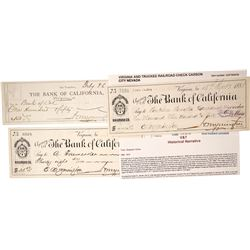 Virginia & Truckee Railroad Co.,  Checks (3)