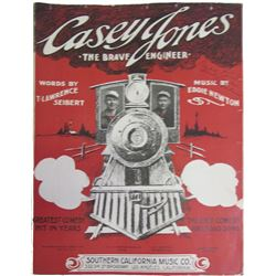 Casey Jones The Brave Engineer Sheet Music