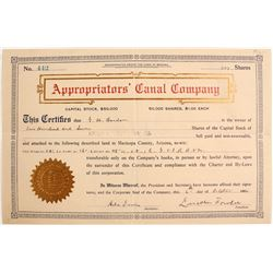 Appropriator's Canal Co Stock