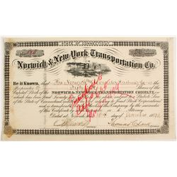 Norwich and New York Transportation Co Stock