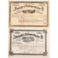 Dunleith & Dubuque Bride Co Stocks (2)