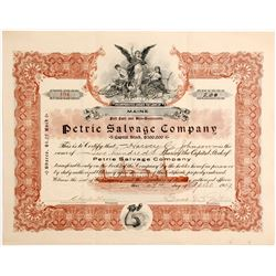 Petrie Salvage Co Stock