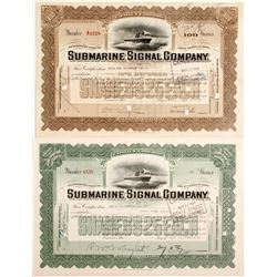 Submarine Signal Co Stocks, 2 Different
