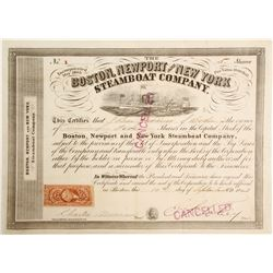 Boston, Newport and New York Steamboat Co Stock