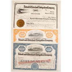 Detroit and Cleveland Navigation Co. Stocks (3)