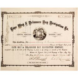 Cape May & Delaware Bay Navigation Co Stock