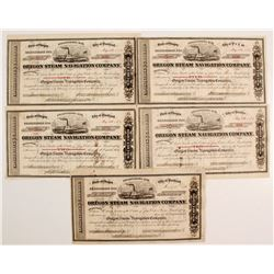 Oregon Steam Navigation Co Stock Collection