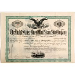 United States and Brazil Mail Steam Ship Co Bond