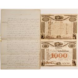 Orininc Steam Navigation Co Of NY Bonds and and Hand Written Articles