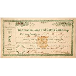 Crittenden Land and Cattle Company Stock