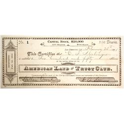 American Land and Trust Club Stock