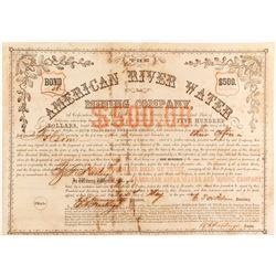 American River Water and Mining Co Bond
