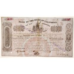California Bond for the Indian War Indebtedness, 1852, $500