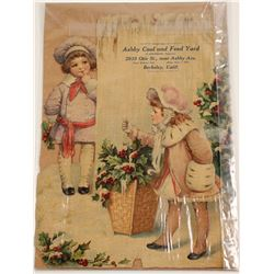 Die Cut photo of Christmas catalog cover