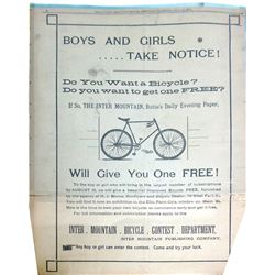 Daily Inter Mountain Full Page Bicycle Ad