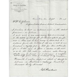 Quote, Contract and Refusal to Pay for Artesian Well at the Stewart Indian School