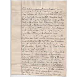 Warren Williams Mine Contract, Ranching Correspondence and Tract Purchases in Fallon