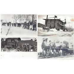 Collection of ten RPC's of the Sparks Railroad Yard c1913