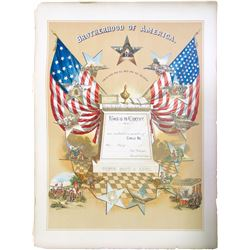 Brotherhood of America Enrollment Print