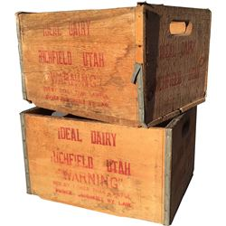Ideal Dairy Crates - Lot of 2