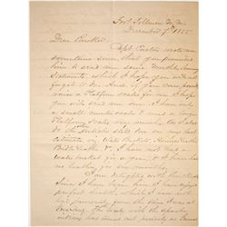 Army Letter to Maj. Rucker, 1855