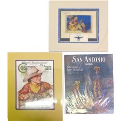 Showy Cowboy/Cowgirl Calendar, Cosmo Cover, Songbook and Print