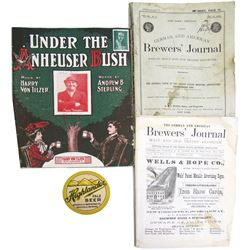 German American Brewers Journals and Anheuser Bush Sheet Music