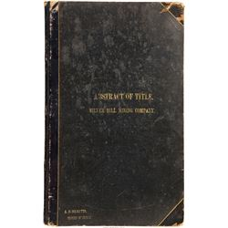 Lucerne (Silver Hill) Mining Company Book of Abstracts