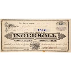 Ingersoll Consolidated Mining Company Stock