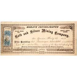 Mohave Consolidated Gold and Silver Mining Company Stock