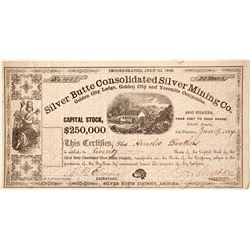 Silver Butte Consolidated Mining Company - Very Early 1864