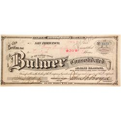 Bulwer Consolidated Mining Company Stock