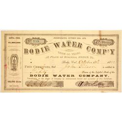 Extremely Rare Bodie Water Company Stock Certificate