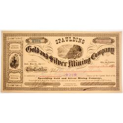 Spaulding Gold and Silver Mining Company Stock