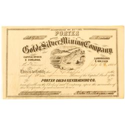 Porter Gold and Silver Mining Co. Certificate