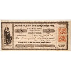 Folsom Gold, Silver and Copper Mining Company Stock