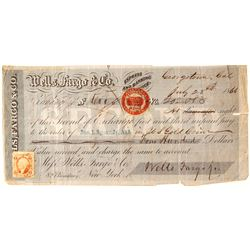 Georgetown, CA Check with Revenue Stamp