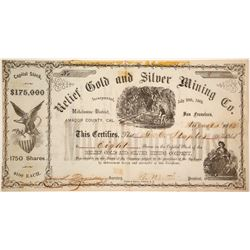Relief Gold and Silver Mining Company Stock