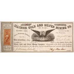 Illinois Gold and Silver Mining Company Stock NUMBER 1