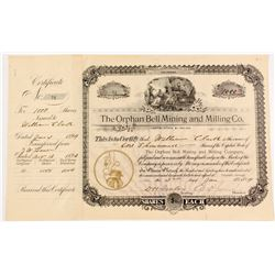 Orphan Bell Mining and Milling Company Stock Certificate