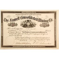 Farwell Consolidated Mining Company stock