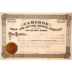 Cameron Gold and Silver Mining Company Stock