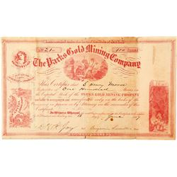 The Parks Gold Mining Company Stock Certificate