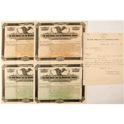 North Georgia Land and Manufacturing Company Stock Certificate