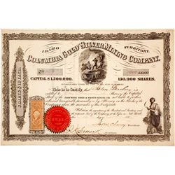 Columbia Gold and Silver Mining Co, Idaho Territory Stock