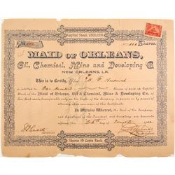 Maid of Orleans Oil, Chemical, Mine and Developing Co. Stock