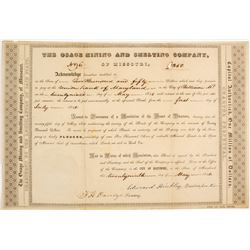 Osage Mining and Smelting Company of Missouri: Certificate NUMBER 6